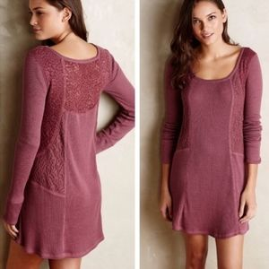 Anthropologie Eloise Thermal Lace Dress Tunic sz L